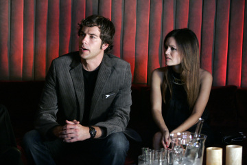 "CHUCK - Zachary Levi as Chuck Bartowski and Rachel Bilson as Lou in ""Chuck vs. The Imported Hard Salami"" Episode 108"