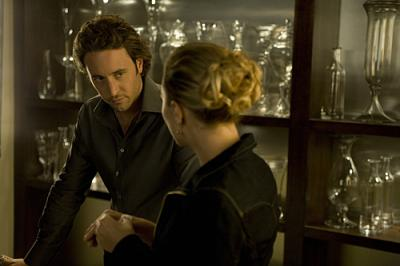 "MOONLIGHT - Mick St. John (Alex O'Loughlin) and Beth Turner (Sophia Myles) in ""B.C. """