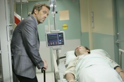 "HOUSE - Hugh Laurie as Dr. Gregory House and Steve Valentine in ""You Don't Want to Know"""