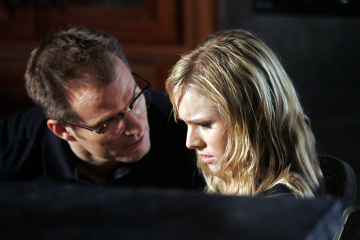 "HEROES - Jack Coleman as H.R.G., Kristen Bell as Elle in ""Cautionary Tales"""