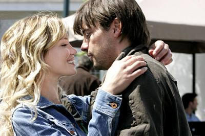 JERICHO - Ashley Scott as Emily Sullivan and Skeet Ulrich as Jake Green in Season 2