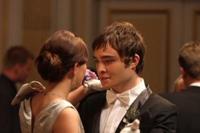 "GOSSIP GIRL - Leighton Meester as Blair and Ed Westwick as Chuck in ""Hi, Society"""