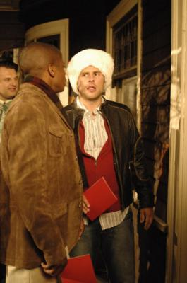 "PSYCH -  Dule Hill as Burton ""Gus"" Guster and James Roday as Shawn Spencer in ""Gus' Dad May Have Killed An Old Guy"""