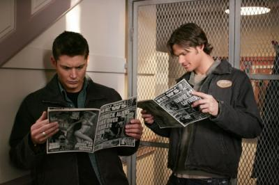"SUPERNATURAL - Jared Padalecki as Sam Winchester and Jensen Ackles as Dean Winchester in ""Tall Tales"""