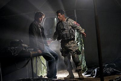"JERICHO - Skeet Ulrich as Jake and Esai Morales as Major Beck ""Reconstruction"""