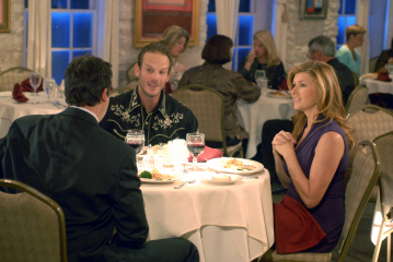 "FRIDAY NIGHT LIGHTS - Kyle Chandler as Eric Taylor, Peter Berg as Morris ""Mo"" McAarnold, and Connie Britton as Tami Taylor in ""May the Best Man Win"""