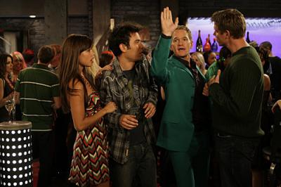 """HOW I MET YOUR MOTHER - Vanessa Minnillo, Josh Radnor as Ted, and Neil Patrick Harris as Barney in """"No Tomorrow"""""""