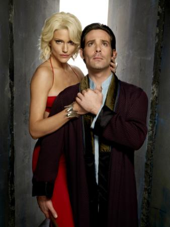 BATTLESTAR GALACTICA - Tricia Helfer as Number Six, James Callis as Dr. Gaius Baltar