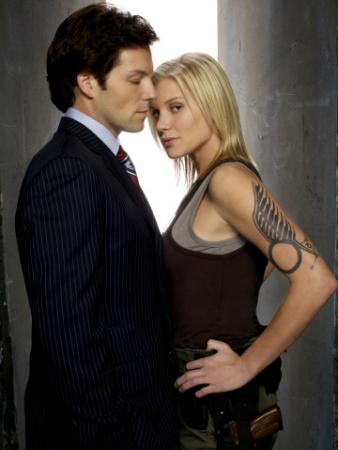 "BATTLESTAR GALACTICA - Jamie Bamber as Lee ""Apollo"" Adama, Katee Sackhoff as Kara ""Starbuck"" Thrace"