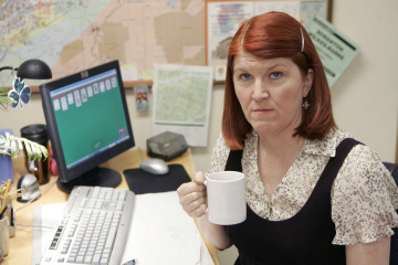"THE OFFICE - Kate Flannery as Meredith Palmer in ""The Chairmodel"""