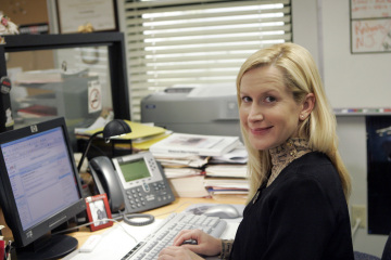 "THE OFFICE - Angela Kinsey as Angela Martin in ""The Chairmodel"""