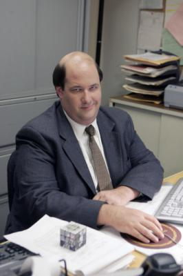 "THE OFFICE - Brian Baumgartner as Kevin Malone in ""The Chairmodel"""
