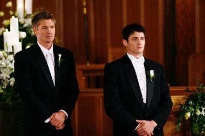 """ONE TREE HILL - Chad Michael Murray as Lucas and James Lafferty as Nathan in """"Hundred"""""""