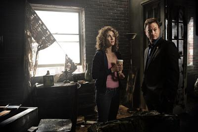 CSI NY - Melina Kanakaredes as Stella and Gary Sinise as Mac
