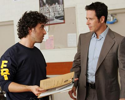 NUMB3RS - Rob Morrow as Don Epps and  David Krumholtz as Charlie Epps