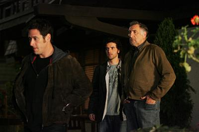 Don (Rob Morrow), Charlie (David Krumholtz) and Judd Hirsch stars as Alan Eppes