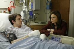Brennan (Emily Deschanel) and Zack (Eric Millegan)