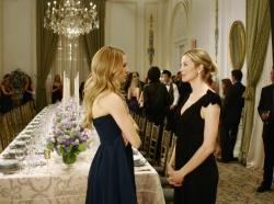 Blake Lively as Serena and Kelly Rutherford as Lily
