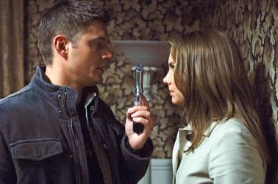 Jensen Ackles as Dean and Lauren Cohan as Bela