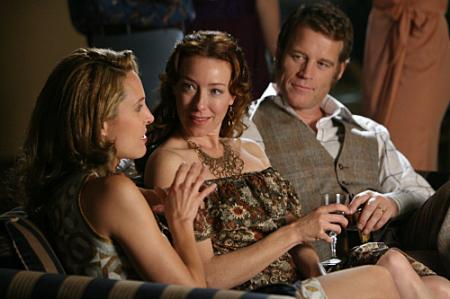 Erin Daniels, Molly Parker and Mark Valley