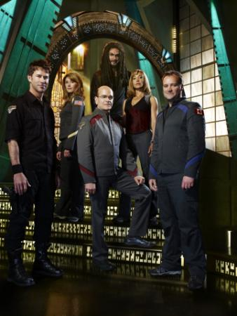 Joe Flanigan as Lt. Col. John Sheppard, Jewel Staite as Dr. Jennifer Keller, Robert Picardo as Richard Woolsey, Jason Momoa as Ronan Dex, Rachel Luttrell as Teyla Emmagan, David Hewlett as Dr. Rodney McKay