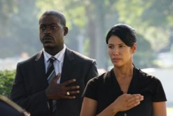 Army Wives - Roland (Sterling K. Brown) and Joan (Wendy Davis)