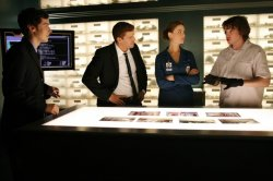 Zach, Bones, Brennan, Booth and Sweets