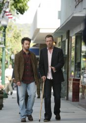 Hugh Laurie and Michael Weston