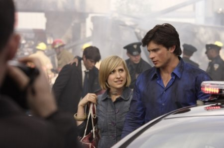 Smallville - Allison Mack as Chloe Sullivan, Tom Welling as Clark Kent
