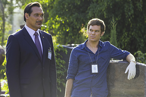 Jimmy Smits and Michael C. Hall