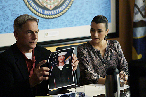 Gibbs (Mark Harmon) and Ziva (Cote de Pablo)