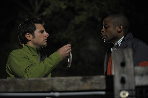 James Roday as Shawn Spencer, Dule Hill as Gus Guster