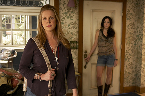 Elizabeth Perkins as Celia Hodes and Mary-Louise Parker as Nancy Botwin