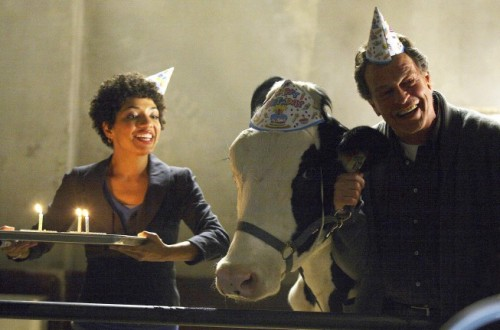 Walter as John Noble and Astrid as Jasika Nicole in FRINGE