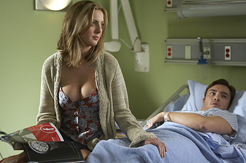 Eva Amurri as Jackie and Ed Westwick as Balt in Californication