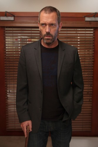 House (Hugh Laurie) tells Cuddy and Foreman that he is not ready to return to work