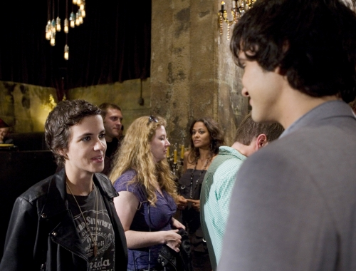 Guest DJ Samantha Ronson with Michael Steger as Navid on 90210
