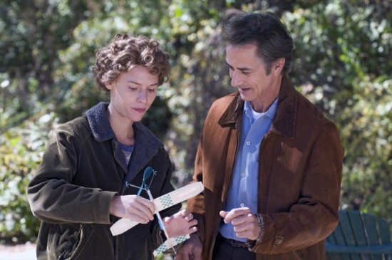 Claire Danes and David Strathairn in Temple Grandin