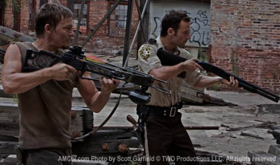 Norman Reedus and Michael Rooker in THE WALKING DEAD (AMC)