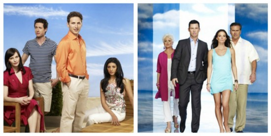 Jill, Evan, Hank and Divya - Royal Pains. Madeline, Michael, Sam and Fiona - Burn Notice