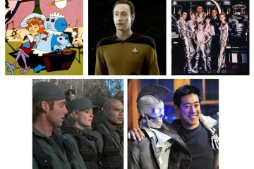 The Jetsons, Star Trek: The Next Generation, Lost in Space, Stargate SG-1, Geoff and Grant