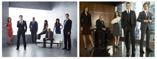 White Collar cast; Suits cast