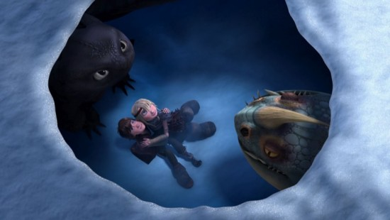 Hiccup-Astrid-in-Snow