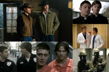 Supernatural - Sam and Dean costume collage