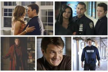 Castel and Beckett, Lanie, Javier and Kevin, Rick Castle - Castle