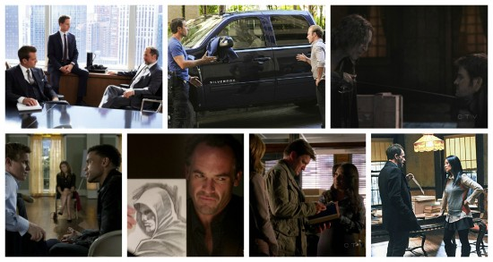 Suits, Hawaii five-0, Once Upon a Time, Common Law, Arrow, Castle and Elementary