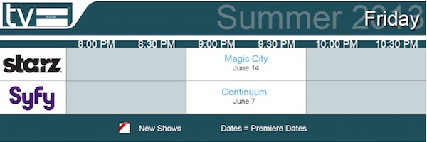 TV Equals Schedules Summer 2013 Friday