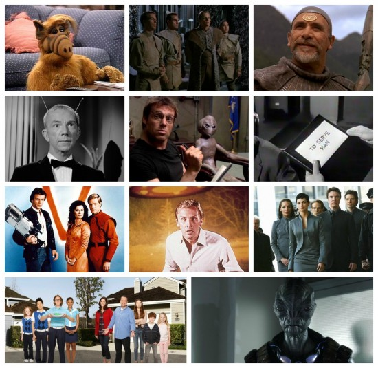 Alf, Tok'ra, Rebel Jaffa, My Favorite Martian, Asgard, To Serve Man, Classic V, The Invaders, Reimagined V, The Neighbors, The Volm