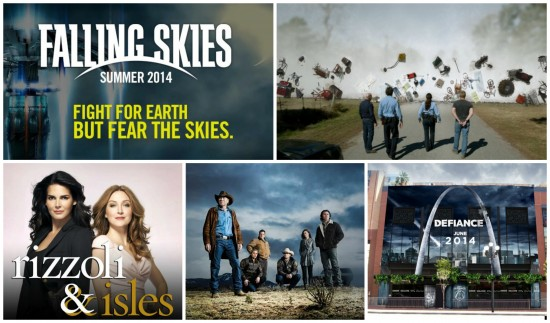 Falling Skies, Under the Dome, Rizzoli & Isles, Longmire, Defiance