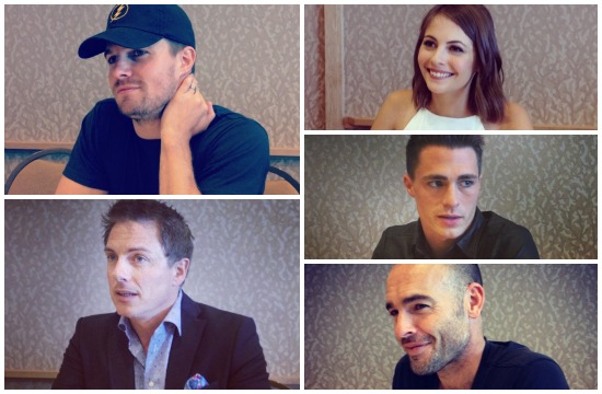 arrow cast comic-con 2014